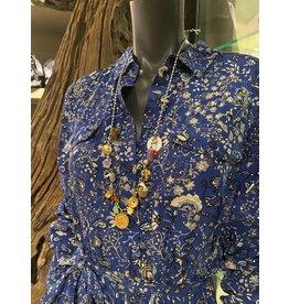 Jazu jewellery ketting blauw
