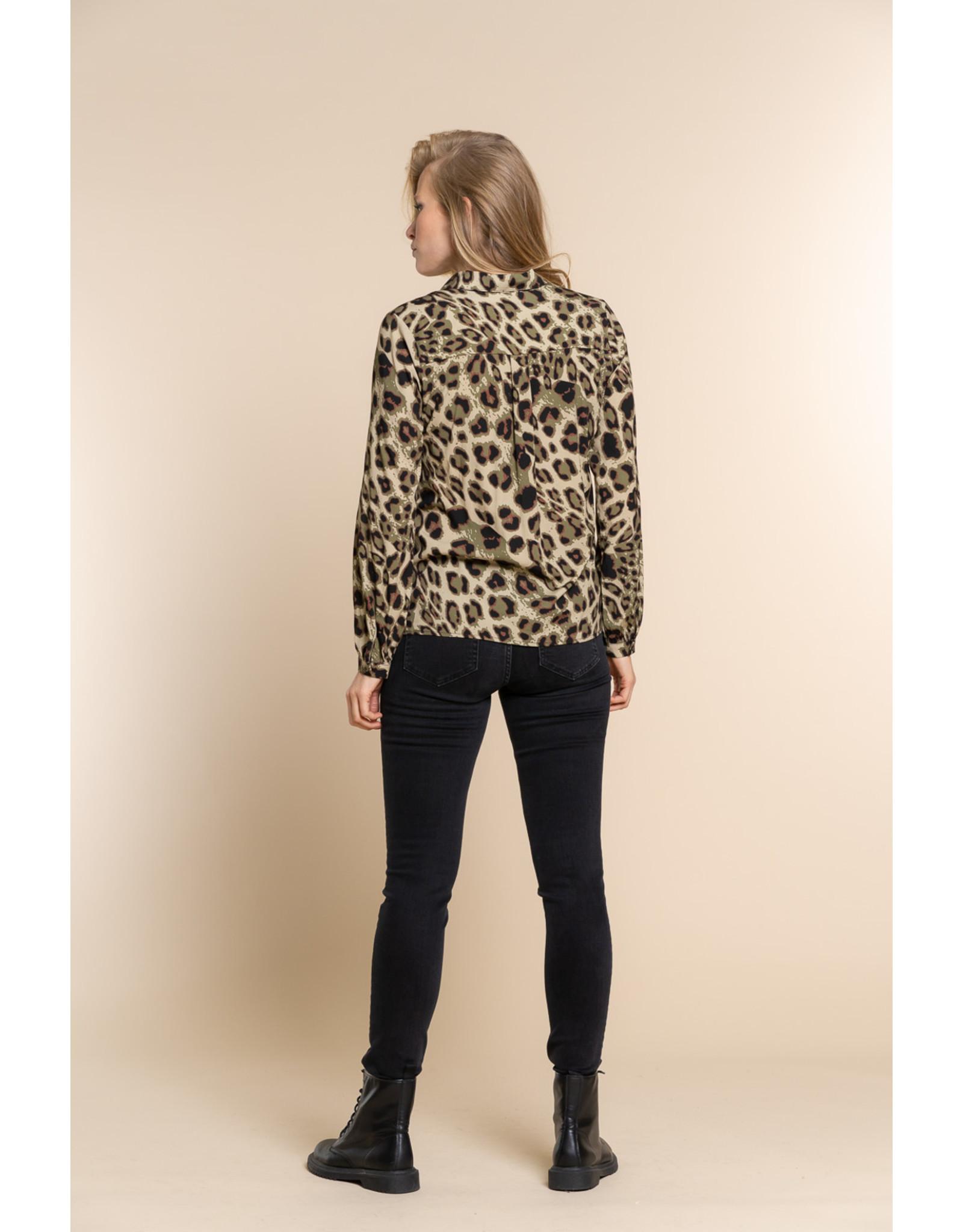 Geisha Blouse leopard print