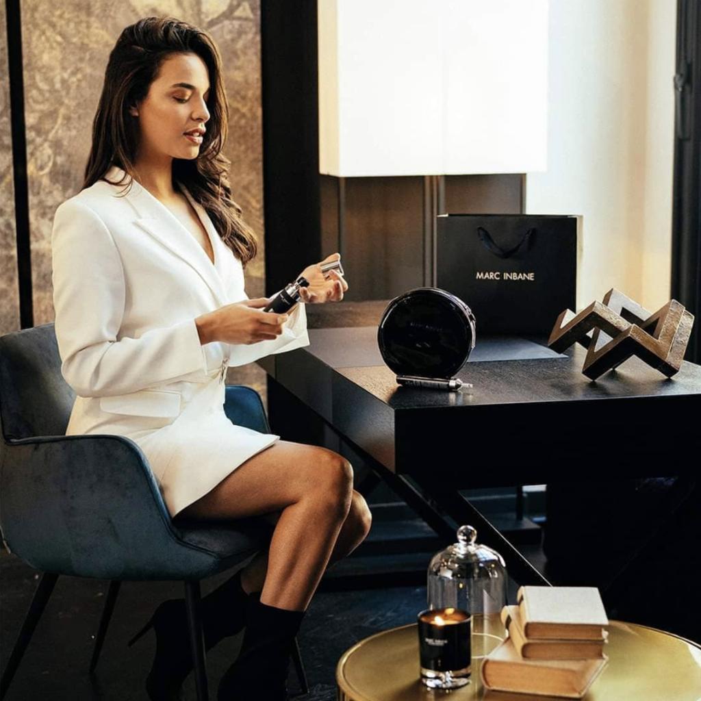 MARC INBANE Bougie Parfumée Tabac Cuir | Black
