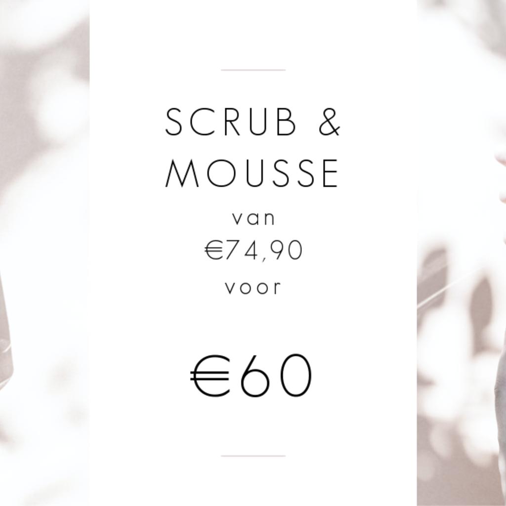 MARC INBANE Black Exfoliator Scrub + Natural Tanning Mousse met zonnig voordeel