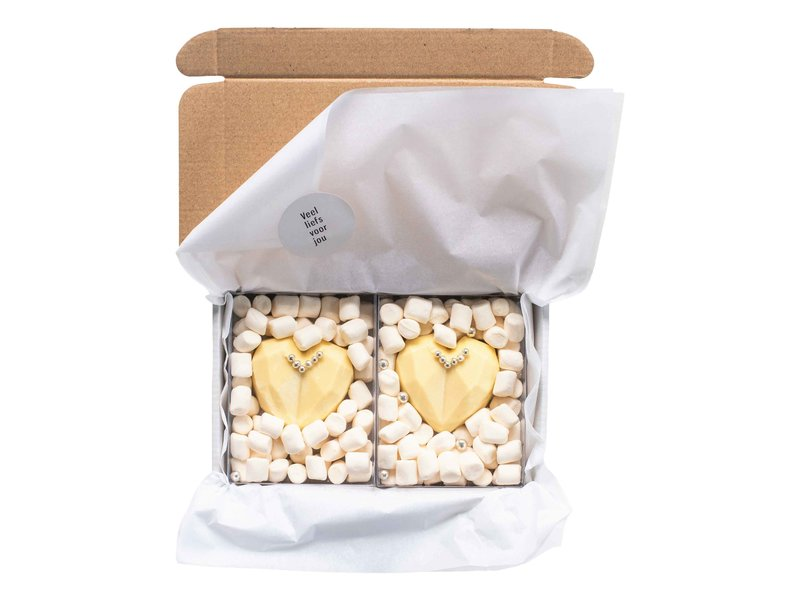 Chocolade harten: Mrs & Mrs