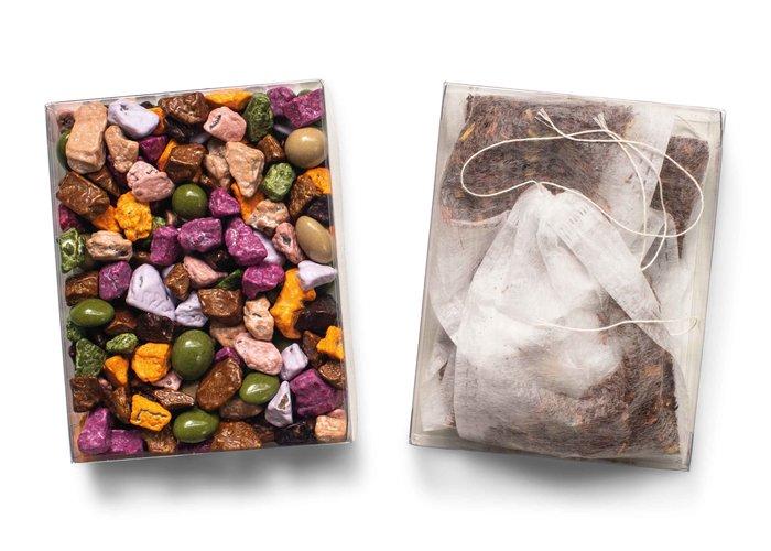 Duo setje: Chocolade steentjes & thee