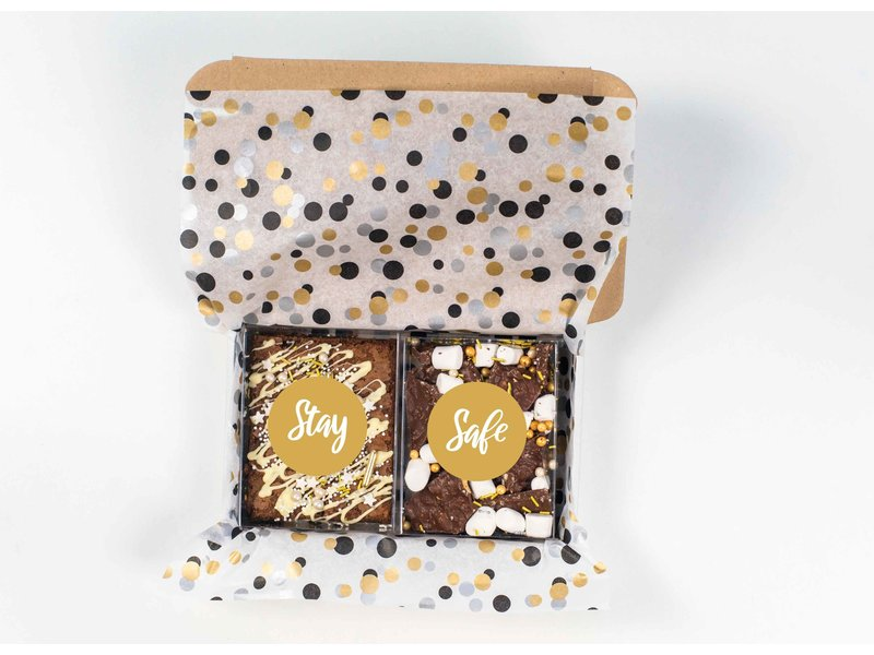 Duo setje: Stay Safe (brownies & breekchocolade)