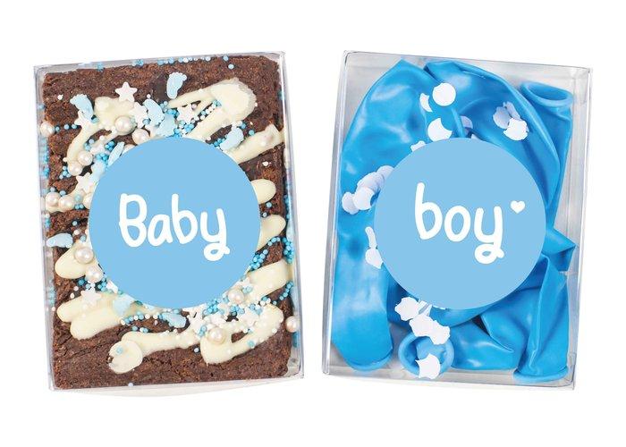 Duo setje: Baby Boy (brownies & feest setje)