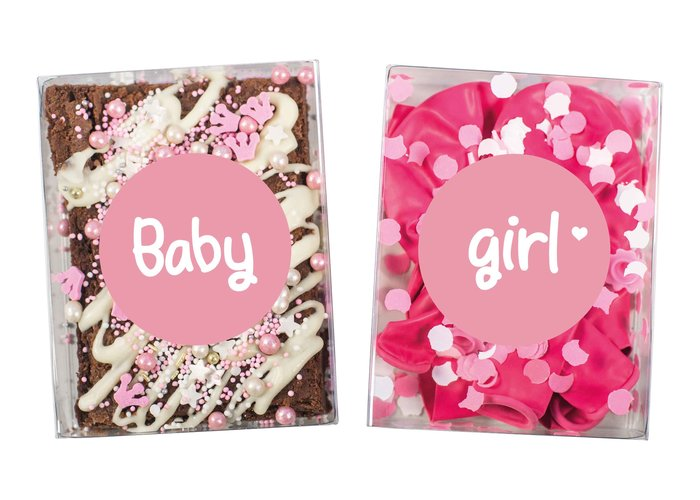 Duo setje: Baby Girl (brownies & feest setje)