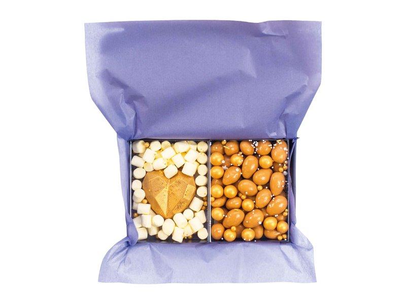 Duo setje: Gouden hart & Karamel amandelen