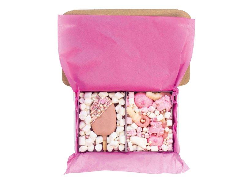 Duo setje: Cakesicle & roze snoepmix