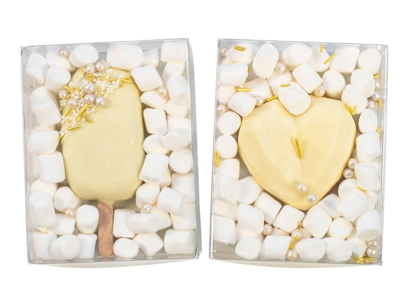 Duo setje: Cakesicle & Chocolade hart