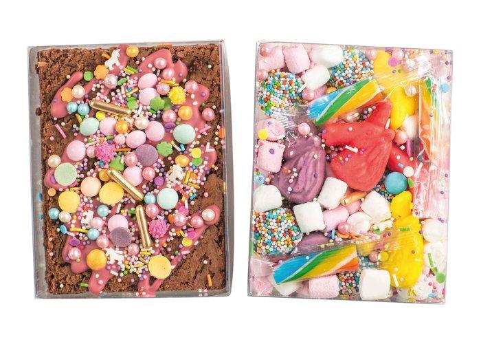 Duo setje: Unicorn brownie & snoep