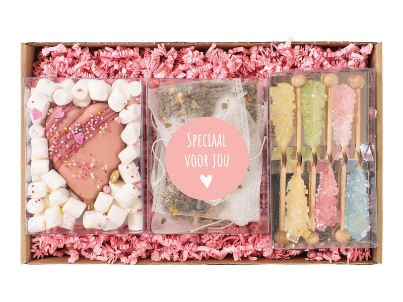 Giftpakket: Cakesicle, thee & rainbow sticks
