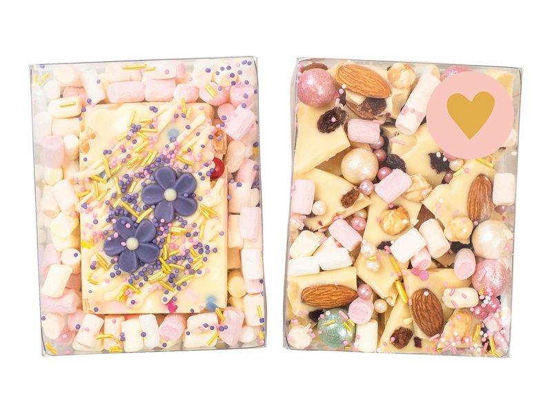Duo setje: Rocky road wit & witte breekchocolade