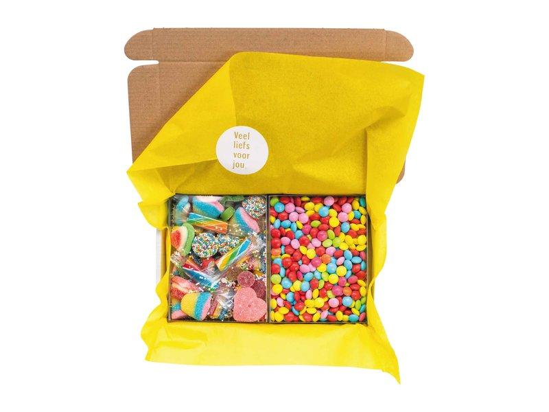 Duo setje: Rainbow mix & Chocolade confetti (Happy B-day)