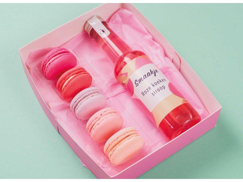 Genietmomentje - Macarons & Roze koeken siroop