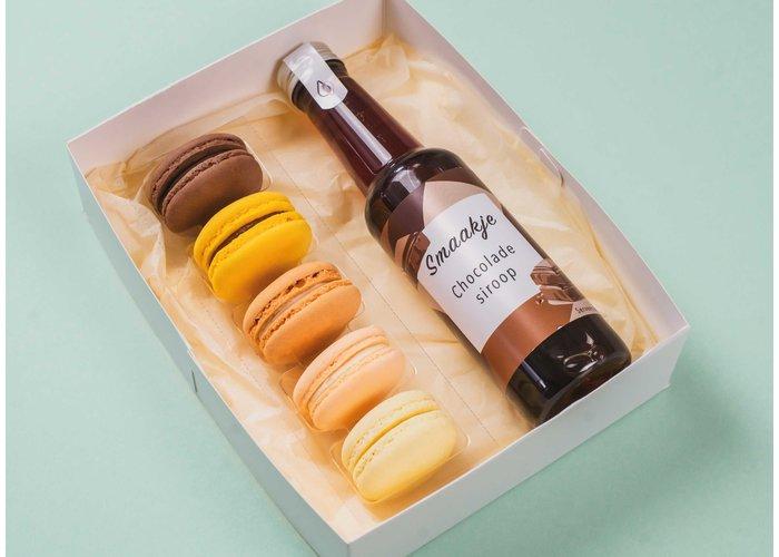 Genietmomentje - Macarons & chocolade siroop