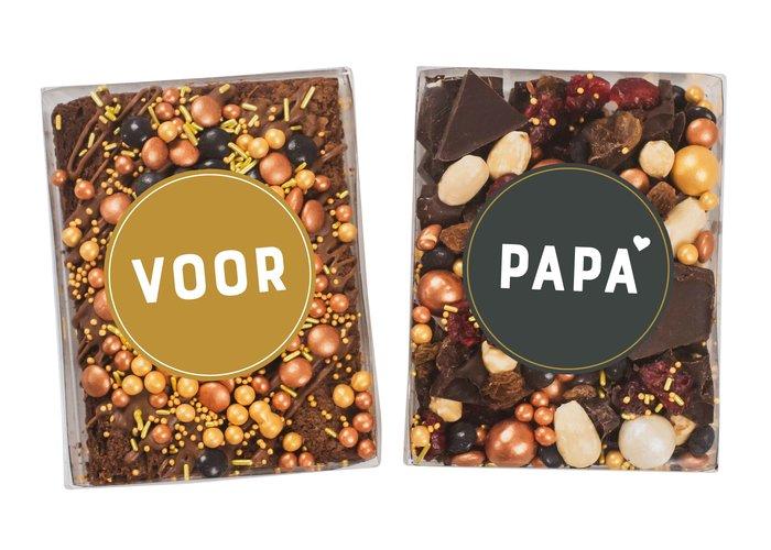 Duo setje: Brownie & breekchocolade