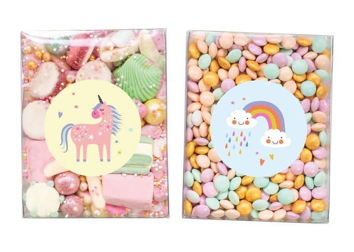 Duo setje: Snoep & Chocolade confetti (Unicorn)