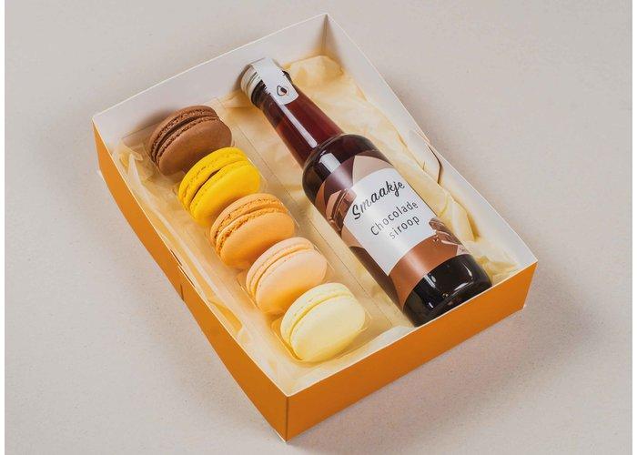 Vaderdag giftset -  Macarons & chocolade siroop