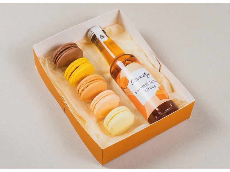 Vaderdag giftpakket -  Macarons & karamel toffee  siroop
