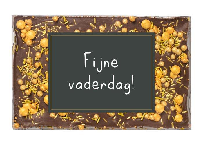Choco bar goud (opdruk naar keuze)