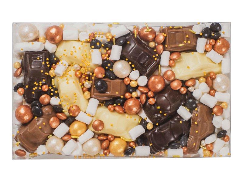 Chocolade auto's (opdruk naar keuze)