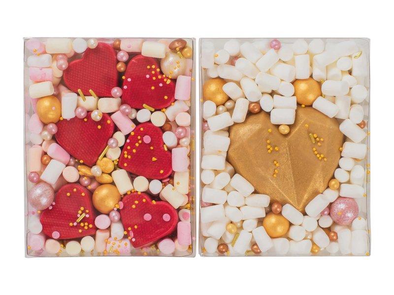 Duo setje | Hartjes bonbons & Gouden hart