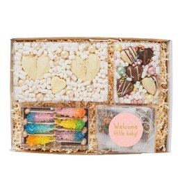 Cadeaupakket XL   Zwangerschap (choco harten, thee & pastel sticks)