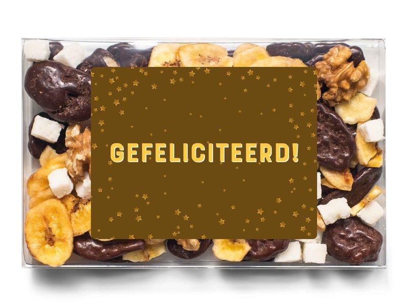 Doosje chocolade    Gefeliciteerd!