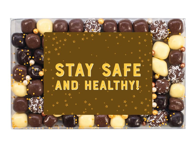 Doosje chocolade   Stay healthy!