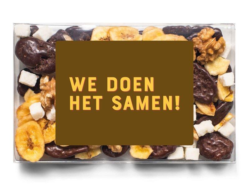 Doosje chocolade |  We doen het samen!