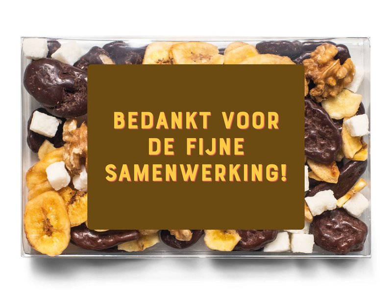 Doosje chocolade   Bedankt voor de fijne samenwerking!