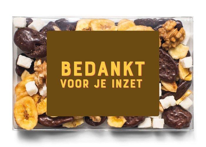 Doosje chocolade |  Bedankt voor je inzet!