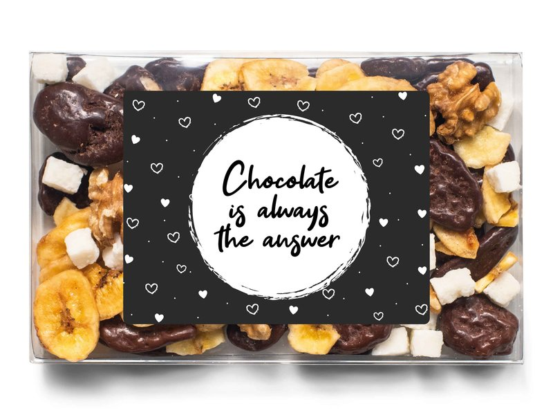 Doosje chocolade   Chocolate is the answer