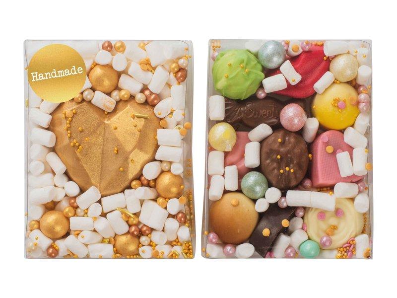Duo setje: Chocolade hart & Bonbons