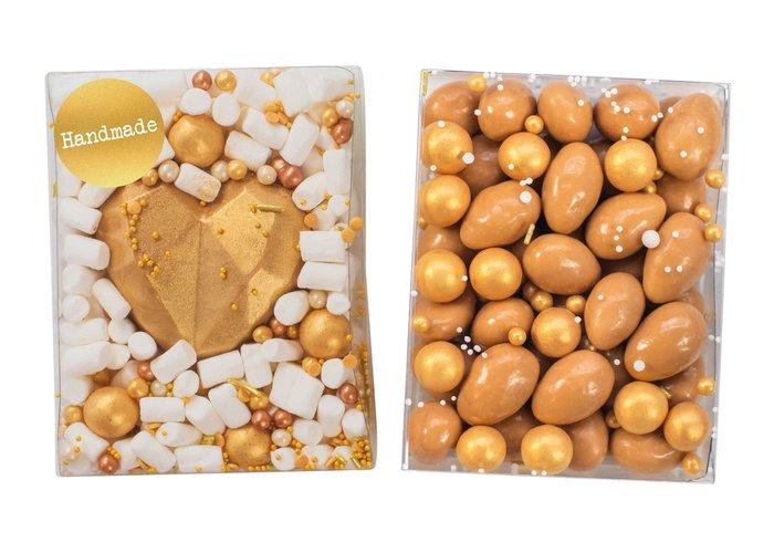 Duo setje   Chocolade hart & karamel amandelen