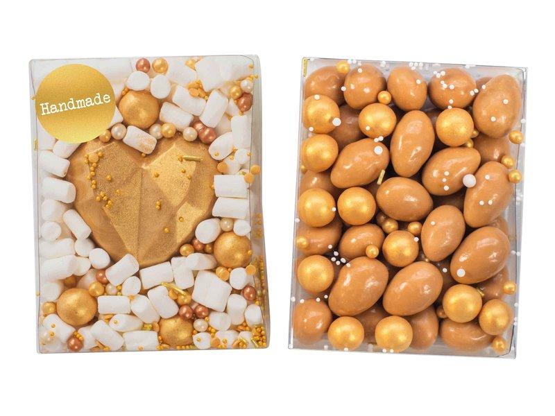 Duo setje | Chocolade hart & karamel amandelen
