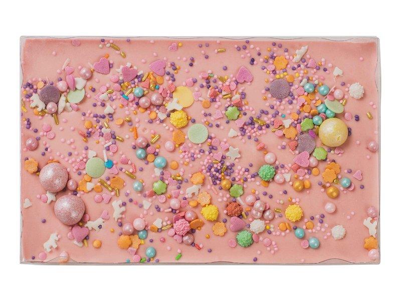Choco bar roze | Opdruk naar keuze