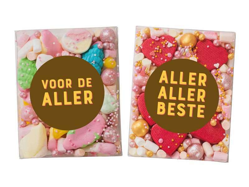 Duo setje   Pastel Dream & Rode hartjes bonbons