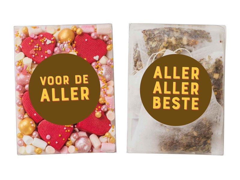 Duo setje   Rode hartjes bonbons & thee