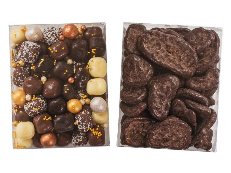 Duo setje    Choco kokos bolletjes & Choco banaan schijfjes