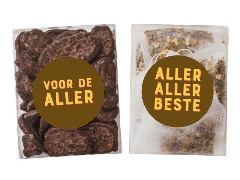 Duo setje   Chocolade banaan schijfjes & thee