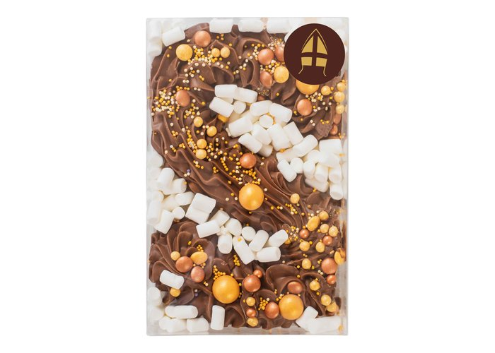Deluxe chocolade letter goud
