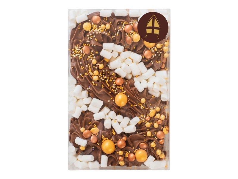Deluxe chocoladeletter goud