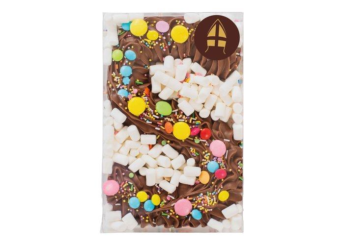 Deluxe chocolade letter rainbow