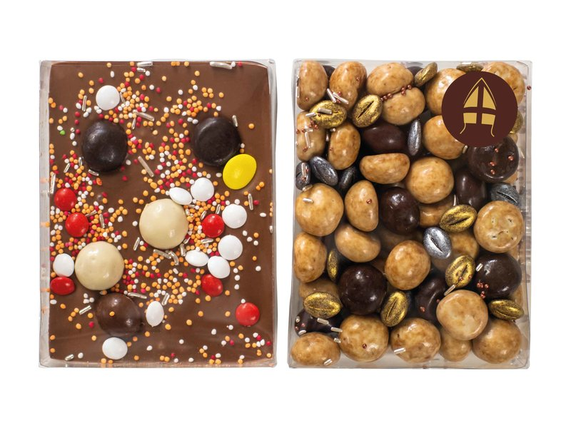 Duo setje | Choco bar en koffie pepernoten