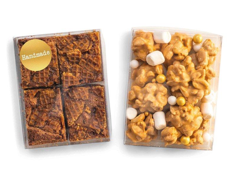Duo setje: Stroopwafel brownies & karamel rotsjes