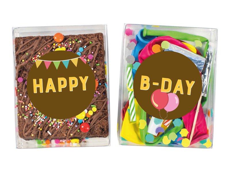 Duo setje: Brownies en feest doosje
