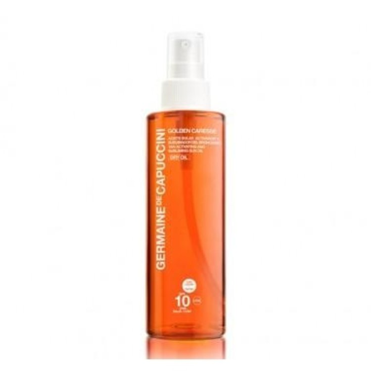 Germaine de Capuccini Tan Activating and Subliming Sun Oil SPF 10 Dry Oil Tinted