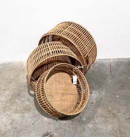 wicker basket set of three