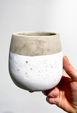 concrete|white pot