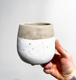 concrete|white pot